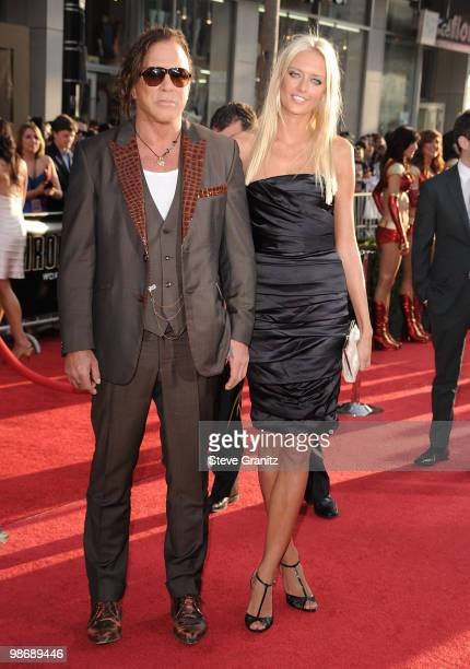 "Actor Mickey Rourke and Anastassija Makarenko arrive at the ""Iron Man 2"" World Premiere held at the El Capitan Theatre on April 26, 2010 in..."