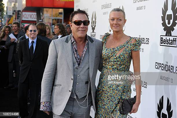 "Actor Mickey Rourke and Anastassija Makarenko arrive at the ""The Expendables"" Los Angeles Premiere held at Grauman's Chinese Theatre on August 3,..."