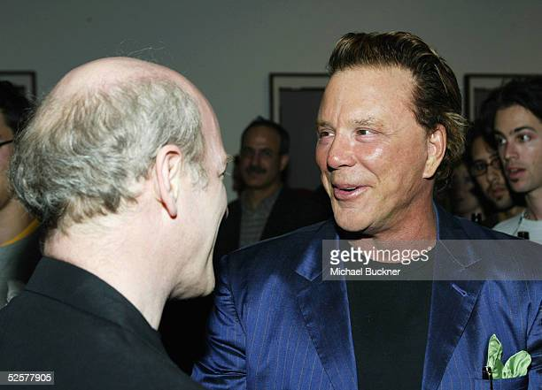 Actor Mickey Rourke and photographer Timothy GreenfieldSanders inside at TEN's presentation of Timothy GreenfieldSanders XXX 30 PornStars Portraits...