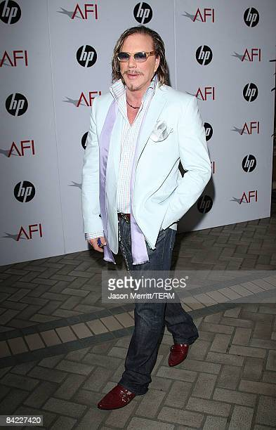 Actor Mickey Rourke arrives at the AFI Awards 2008 held at the Four Seasons Hotel on January 9 2009 in Los Angeles California