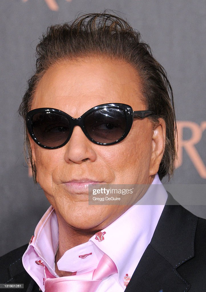 Actor Mickey Rourke arrives at the 'Immortals' - Los Angeles Premiere at Nokia Theatre L.A. Live on November 7, 2011 in Los Angeles, California.
