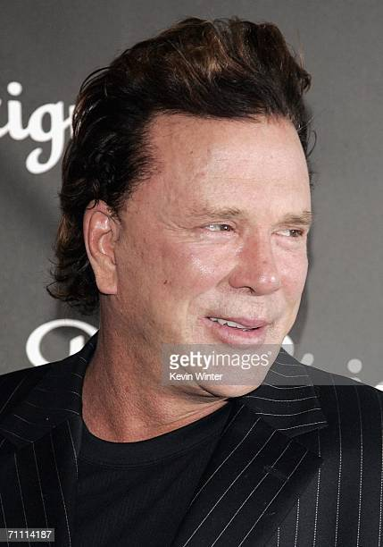 Actor Mickey Rourke arrives at the International Launch of Dom Perignon Rose Vintage 1996 Champagne by Karl Lagerfeld on June 2 2006 in Beverly Hills...