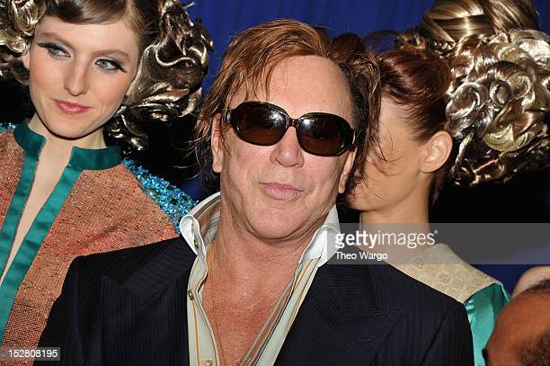 Actor Mickey Rourke attends the Black November New York Premiere at United Nations on September 26 2012 in New York City