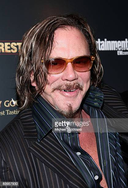 Actor Mickey Rourke attends the Cinema Society screening of The Wrestler at the Tribeca Grand Screening Room on December 8 2008 in New York City