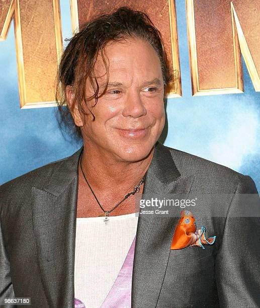 Actor Mickey Rourke attends the Iron Man 2 Los Angeles Photo Call at The Four Seasons on April 23 2010 in Beverly Hills California