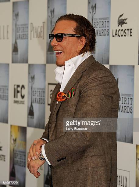 7555ba1a613a1 Actor Mickey Rourke attends the Lacoste Lounge at Film Independent s 2009  Independent Spirit Awards held at