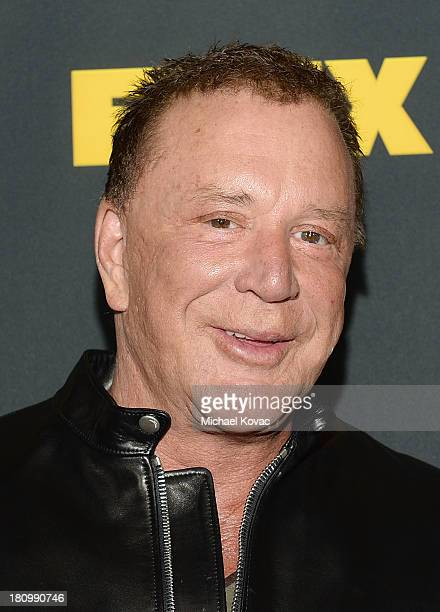 Actor Mickey Rourke attends the Los Angeles Premiere Of GENERATION IRON From The Producer Of Pumping Iron at Chinese 6 Theater Hollywood on September...