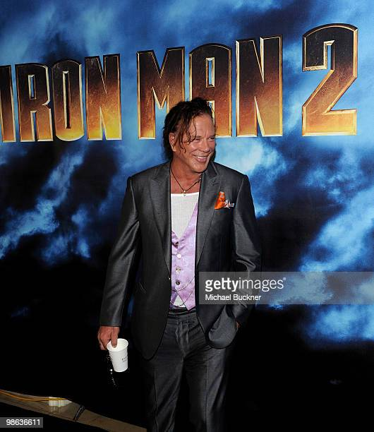 """Actor Mickey Rourke attends the photo call for Paramount Picture's and Marvel Entertainment's """"Iron Man 2"""" at the Four Seasons Beverly Hills on April..."""