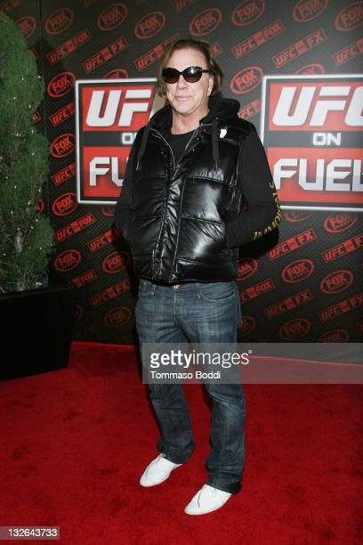 Actor Mickey Rourke attends the UFC On FOX Live Heavyweight Championship held at the Honda Center on November 12 2011 in Anaheim California