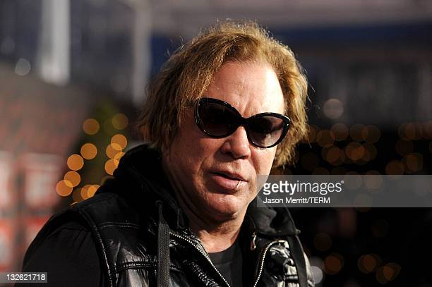 Actor Mickey Rourke attends UFC on Fox Live Heavyweight Championship at the Honda Center on November 12 2011 in Anaheim California