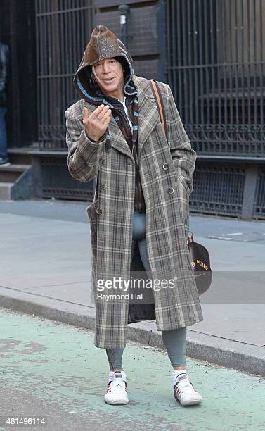 Actor Mickey Rourke is seen in SoHo on January 13 2015 in New York City