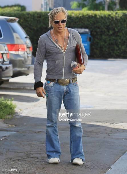 Actor Mickey Rourke is seen on July 8 2017 in Los Angeles California