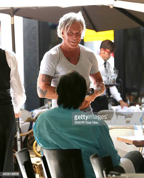 Actor Mickey Rourke is seen on September 20 2014 in Los Angeles California