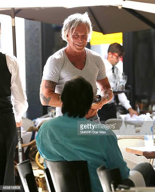 Actor Mickey Rourke is seen on September 20 2014 in Los Angeles California