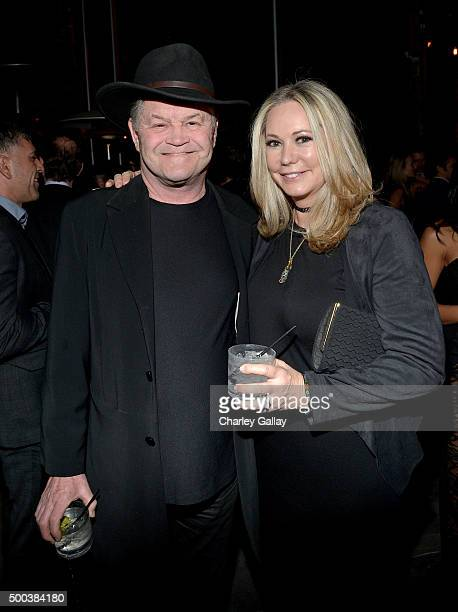 Actor Micky Dolenz and Donna Quinter attend the world premiere of The Hateful Eight presented by The Weinstein Company at Le Jardin on December 7...