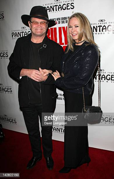 Actor Micky Dolenz and wife Donna Quinter attend the opening night of Billy Elliot at the Pantages Theatre on April 12 2012 in Hollywood California