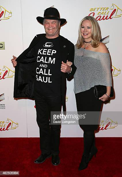 Actor Micky Dolenz and wife Donna Quinter attend the series premiere of AMC's Better Call Saul at Regal Cinemas LA Live on January 29 2015 in Los...
