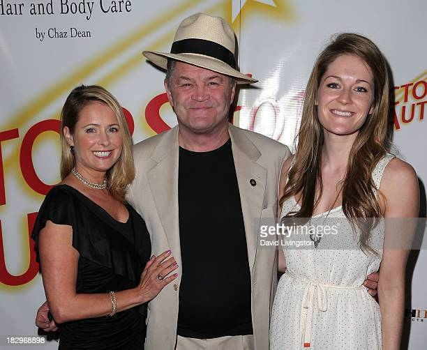 Actor Micky Dolenz poses with daughters actress Ami Dolenz and Georgia Rose Dolenz at Actors for Autism and Rockwell Table Stage presents Reach for...