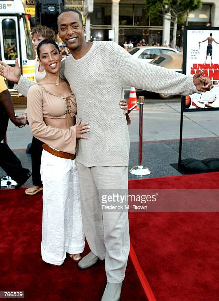 Actor Miguel A Nunez Jr and his wife Betty attend the film premiere of Juwanna Mann June 18 2002 in Los Angeles California The film opens in theaters...