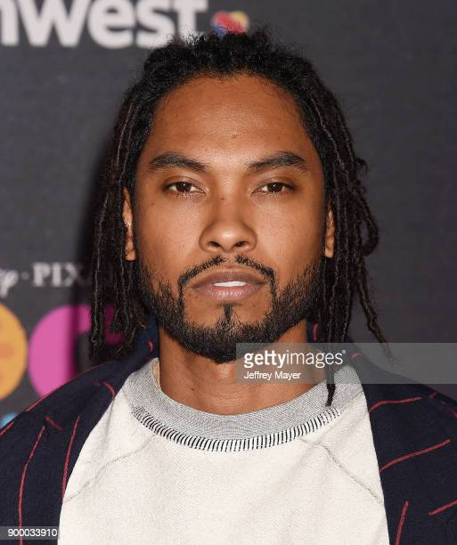 Actor Miguel and guest arrive at the premiere of Disney Pixar's 'Coco' at El Capitan Theatre on November 8 2017 in Los Angeles California