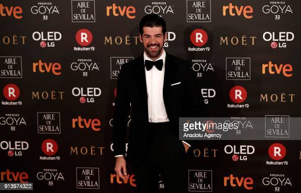 Actor Miguel Angel attends the 32th edition of the Goya Awards ceremony in Madrid Spain on February 04 2018