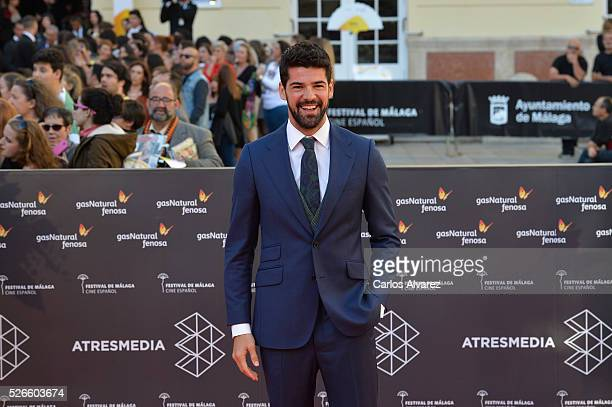 Actor Miguel Angel Munoz attends Nuestros Amantes premiere at the Cervantes Teather during the 19th Malaga Film Festival on April 30 2016 in Malaga...