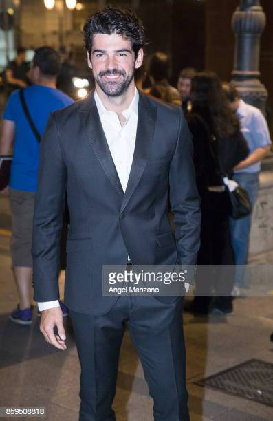 Actor Miguel Angel Munozarrives at the 'Hollywood Madrid' Cocktail at Casino de Madrid on October 9 2017 in Madrid Spain
