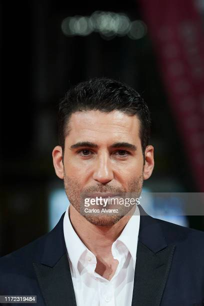 Actor Miguel Angel Silvestre attends 'En el Corredor de la Muerte' premiere at Teatro Principal on September 04, 2019 in Vitoria-Gasteiz, Spain.