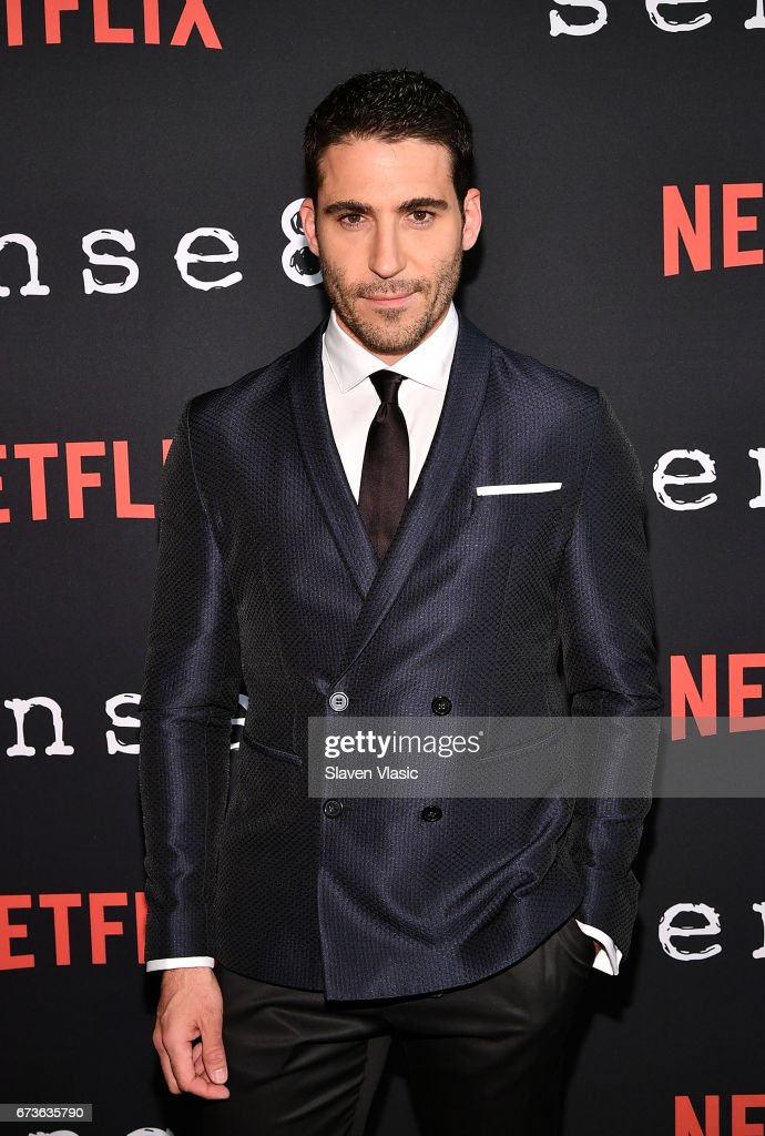 Actor Miguel Angel Silvestre attends 'Sense8' New York Premiere at AMC Lincoln Square Theater on April 26, 2017 in New York City.