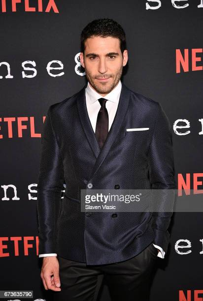 Actor Miguel Angel Silvestre attends Sense8 New York Premiere at AMC Lincoln Square Theater on April 26 2017 in New York City