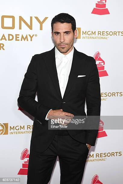 Actor Miguel Angel Silvestre attends the 2016 Person of the Year honoring Marc Anthony at MGM Grand Garden Arena on November 16 2016 in Las Vegas...