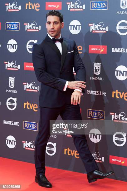 Actor Miguel Angel Silvestre attends the Platino Awards 2017 photocall at the La Caja Magica on July 22 2017 in Madrid Spain