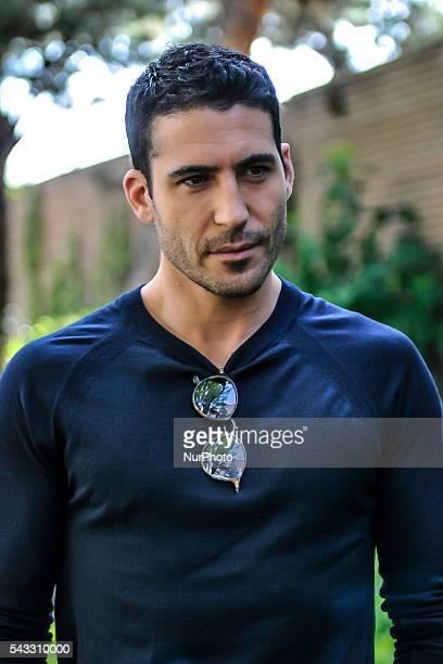 Actor Miguel Angel Silvestre attends the presentation of the TV series 'Velvet' on 27 June 2016 in Madrid, Spain. /NurPhoto
