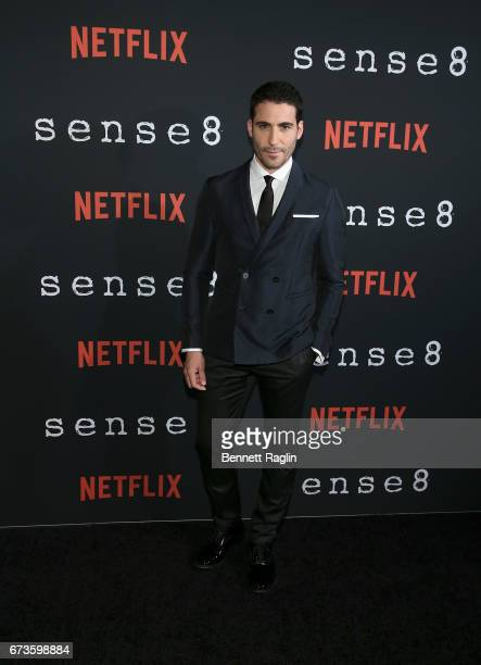 Actor Miguel Angel Silvestre attends the Sense8 New York premiere at AMC Lincoln Square Theater on April 26 2017 in New York City