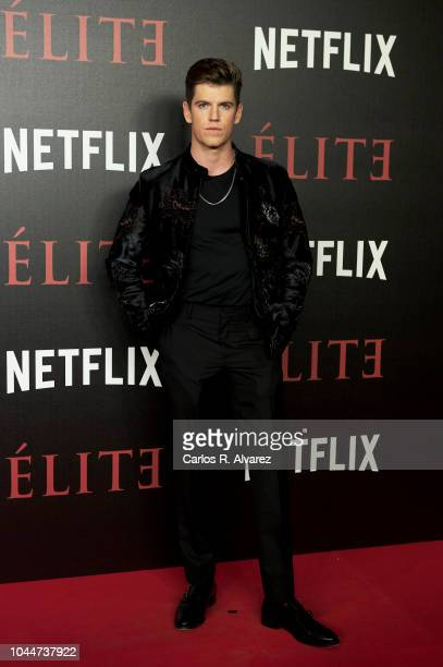 Actor Miguel Bernardeau attends 'Elite' premiere at Reina Sofia Museum on October 2, 2018 in Madrid, Spain.