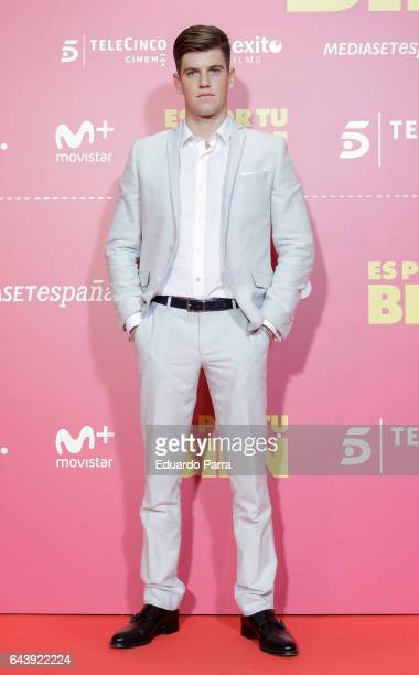 Actor Miguel Bernardeau Duato attends the 'Es por tu bien' premiere at Capitol cinema on February 22 2017 in Madrid Spain