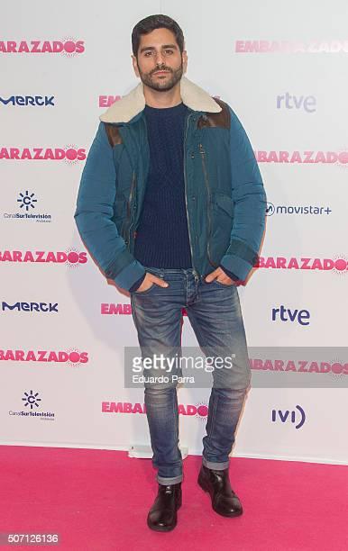 Actor Miguel Diosdado attends 'Embarazados' premiere at Capitol cinema on January 27 2016 in Madrid Spain