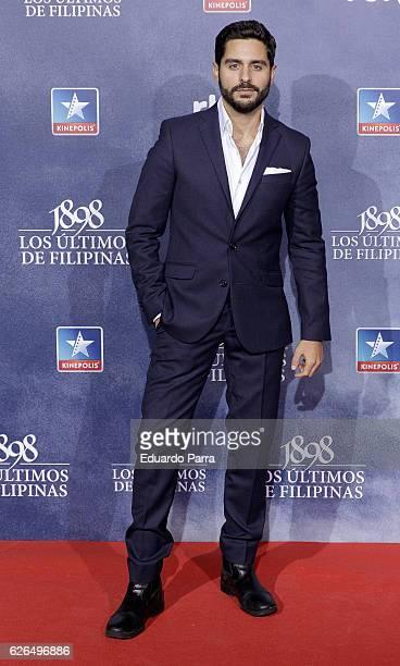 Actor Miguel Diosdado attends the '1898 los ultimos de Filipinas' premiere at Kinepolis cinema on November 29 2016 in Madrid Spain