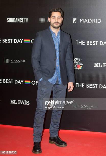 Actor Miguel Diosdado attends 'The Best Day Of My Life' Madrid premiere at Callao cinema on March 13 2018 in Madrid Spain