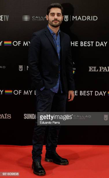 Actor Miguel Diosdado attends the 'The Best Day of My Life' premiere at Callao cinema on March 13 2018 in Madrid Spain