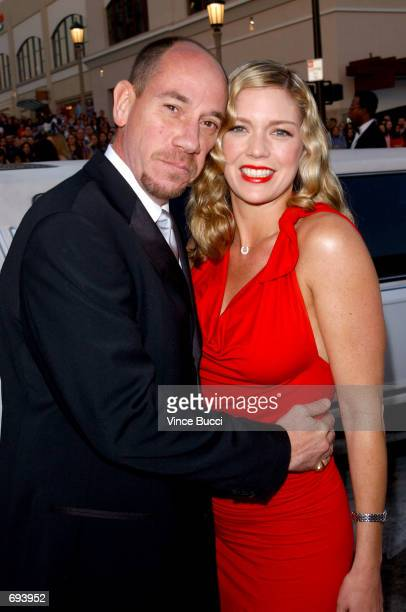 Actor Miguel Ferrer and his wife Leilani attend the 28th Annual Peoples Choice Awards at the Pasadena Civic Center January 13 2002 in Pasadena CA