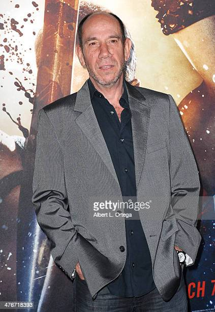 Actor Miguel Ferrer arrives for the Premiere Of Warner Bros Pictures And Legendary Pictures' '300 Rise Of An Empire' held at TCL Chinese Theatre on...