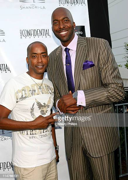 Actor Miguel Nunez and John Salley attend Suunto's Elementum Watch Celebration hosted by John Salley and Los Angeles Confidential Magazine at Hotel...