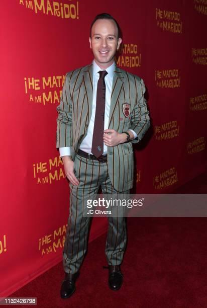 Actor Miguel Sagaz attends 'HE MATADO A MI MARIDO' Los Angeles Premiere at Harmony Gold Theatre on February 26 2019 in Los Angeles California