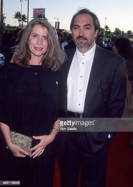 Actor Miguel Sandoval and wife Linda attend the Clear and Present Danger Hollywood Premiere on August 3 1994 at Paramount Pictures Studios in...