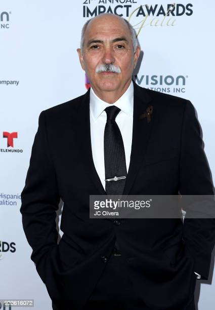 Actor Miguel Sandoval attends the 20th Annual National Hispanic Media Coalition Impact Awards Gala at Regent Beverly Wilshire Hotel on February 23...