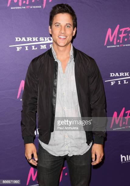 Actor Mike C Manning attends the premiere of Dark Sky Films' 'MFA' at The London West Hollywood on October 2 2017 in West Hollywood California