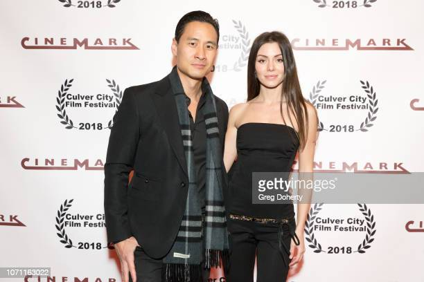 Actor Mike Chat and Actress Neraida Bega attend a screening of Acts Of Desperation At Culver City Film Festival Starring Paul Sorvino Kira Reed...