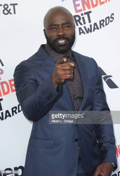 Actor Mike Colter arrives for the 2018 Film Independent Spirit Awards on March 3 2018 in Santa Monica California