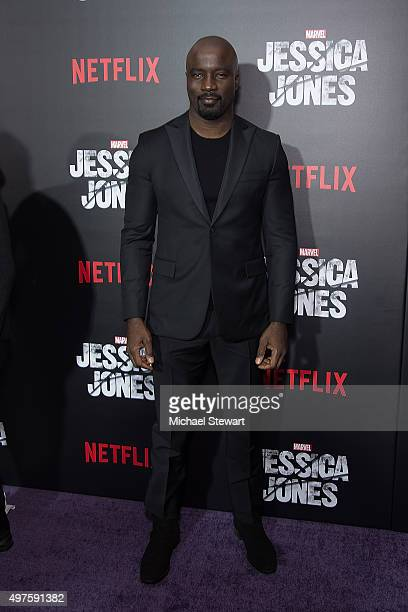 Actor Mike Colter attends the 'Jessica Jones' series premiere at Regal EWalk on November 17 2015 in New York City